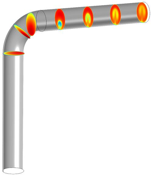 模型显示了辅助面的移动。