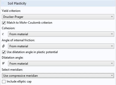 COMSOL Multiphysics 中的椭圆盖特征。