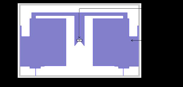 优化版的 RFID 标签天线设计。