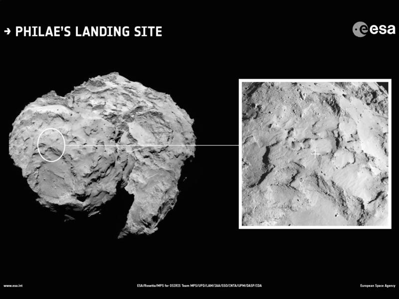 Agilkia 图片,菲莱号的着陆地点。