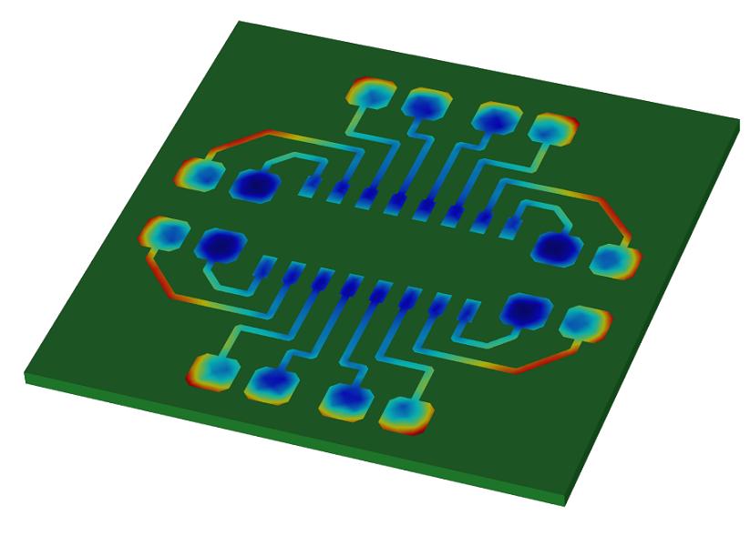 图片突出显示了电场中的非均匀性。