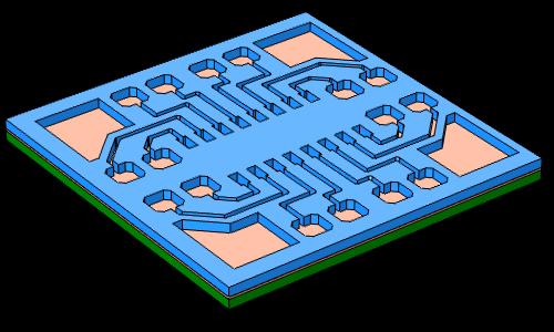 将光刻胶增加到 PCB 板的表面上。
