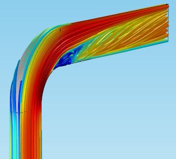 图片显示了密集的流线阵列。