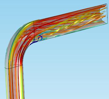 弯管模型显示了条带样式。