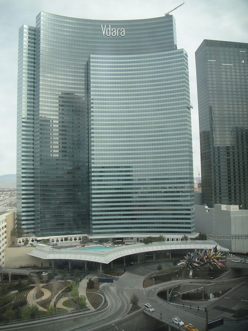 A photo of the Vdara® hotel in Las Vegas.