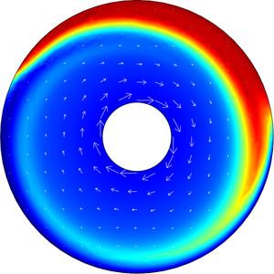 颗粒浓度模型图示。