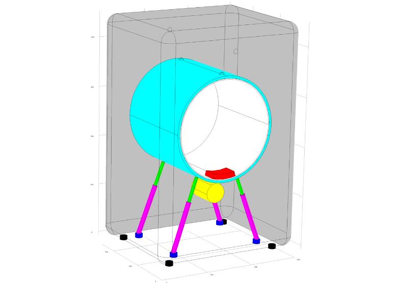 Washing machine geometry 模拟洗衣机中的振动和噪声