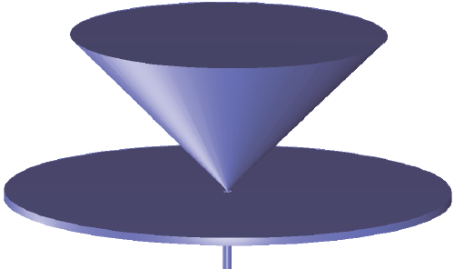 锥形天线的几何。