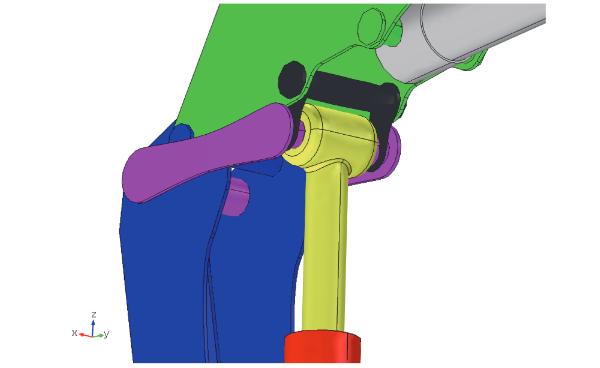 吊机连杆模型。