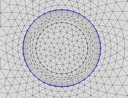 显示了边界层网格类型的绘图。