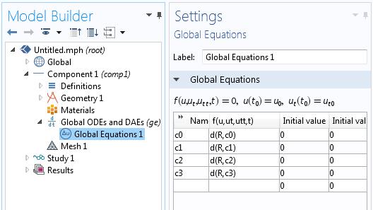 Global Equations 利用COMSOL Multiphysics 擬合實驗數據曲線