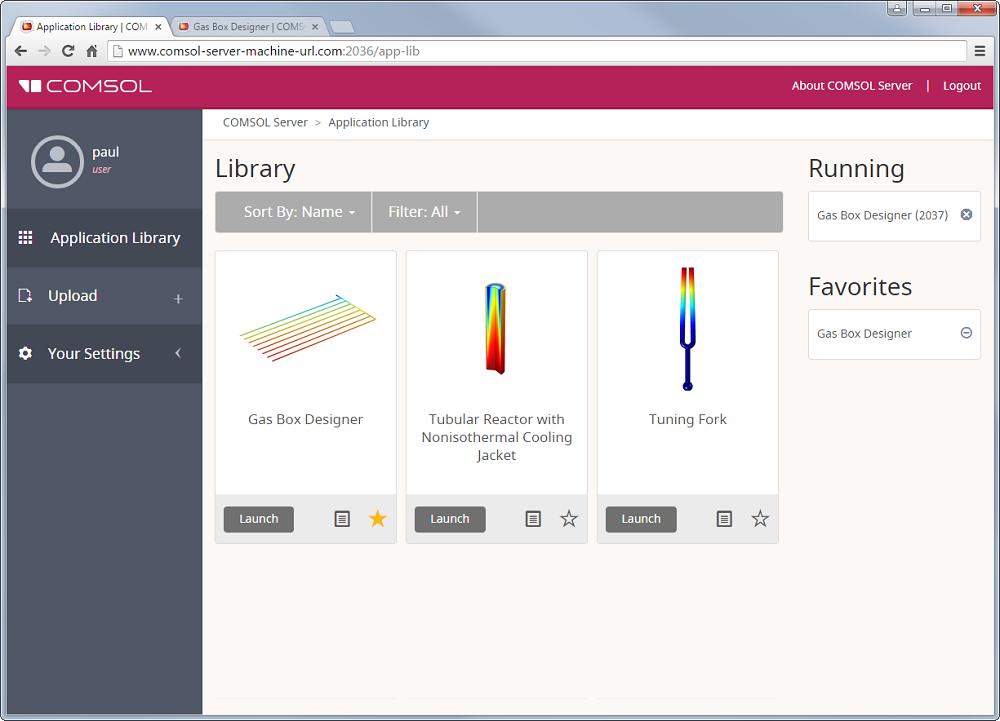 截屏显示了如何在网络浏览器中启动 App。