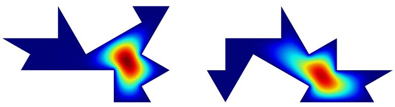 第一种模式的声压场模拟值。