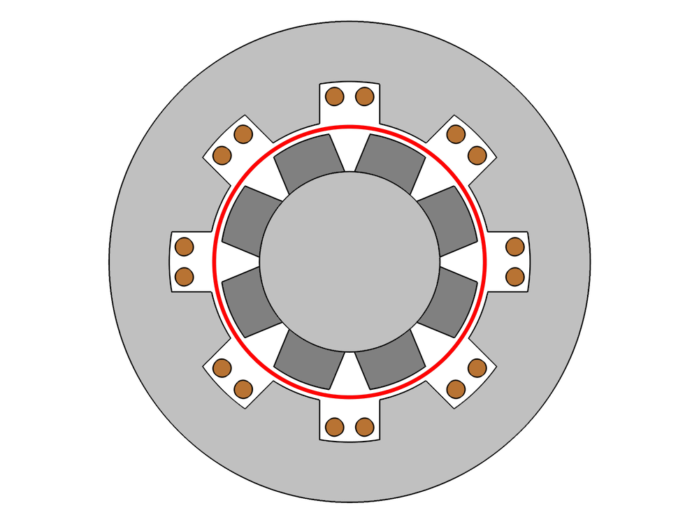 二维发电机示意图。