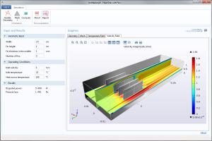 用于更改散热器设计的 COMSOL 演示 App。