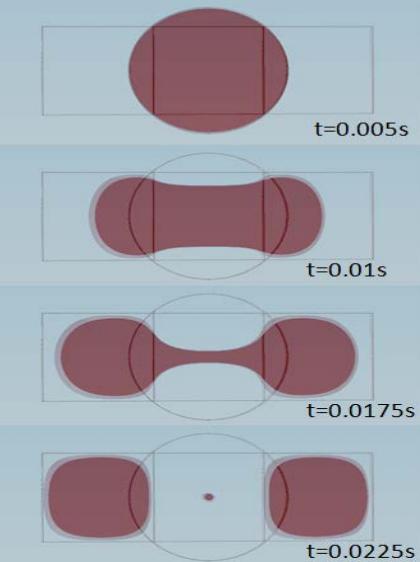 移动分配器中的微流体液滴。