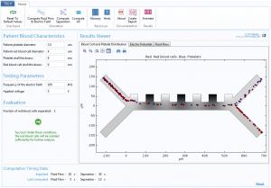 用于评估病人血液特征的 App 用户界面。