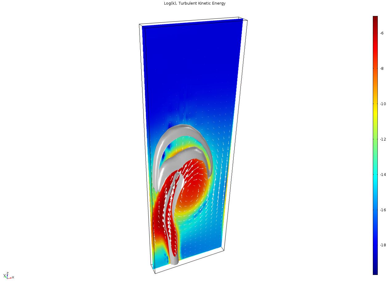 使用 Euler-Euler 模型,湍流接口来模拟气泡柱。