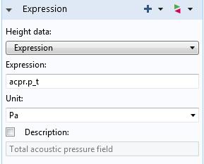编辑高度数据表达式。