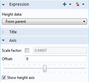 模型高度表达式的主要设定。