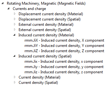 直流电机仿真中空间变量和材料变量的屏幕截图。