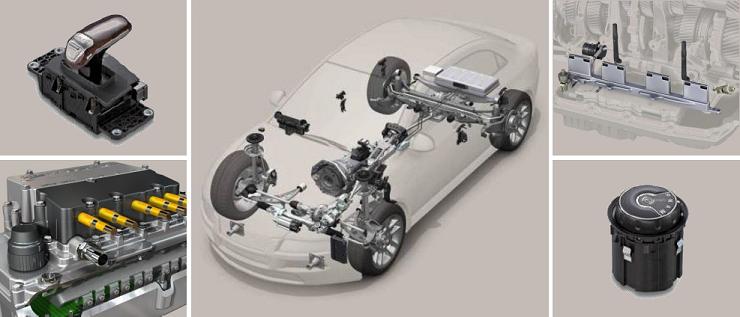 各车型中安装的位置传感器。
