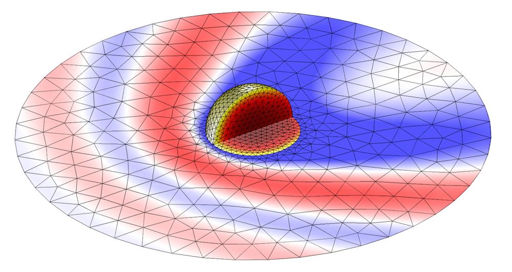 图像展示了被激光加热的金纳米球。
