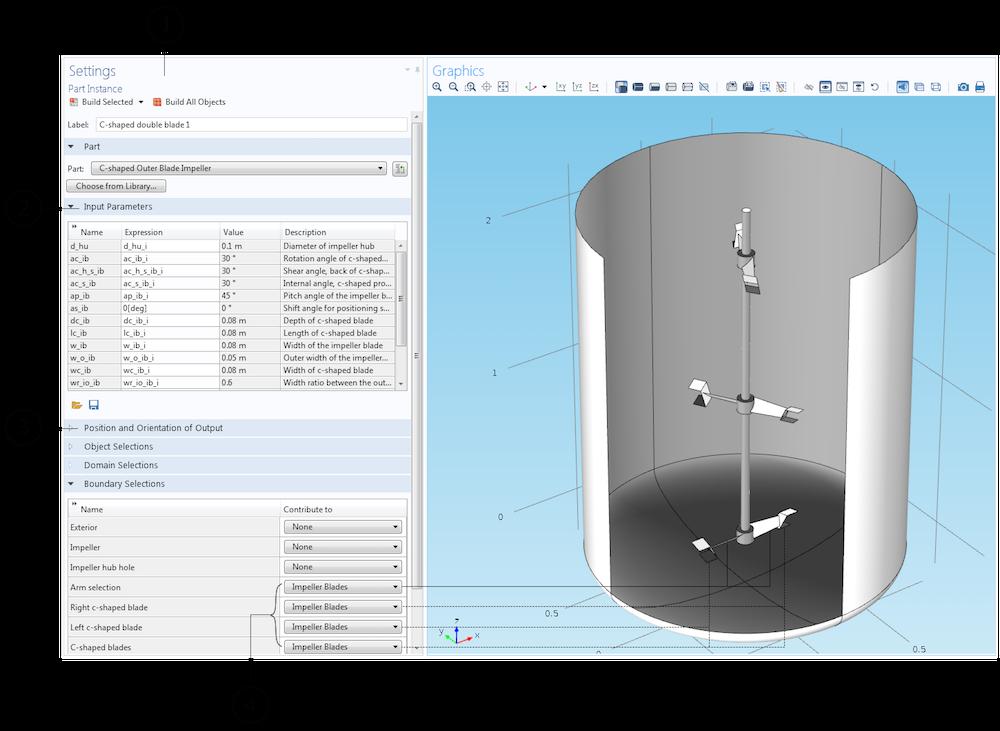 截图显示嵌入到搅拌器 App 中的模型。