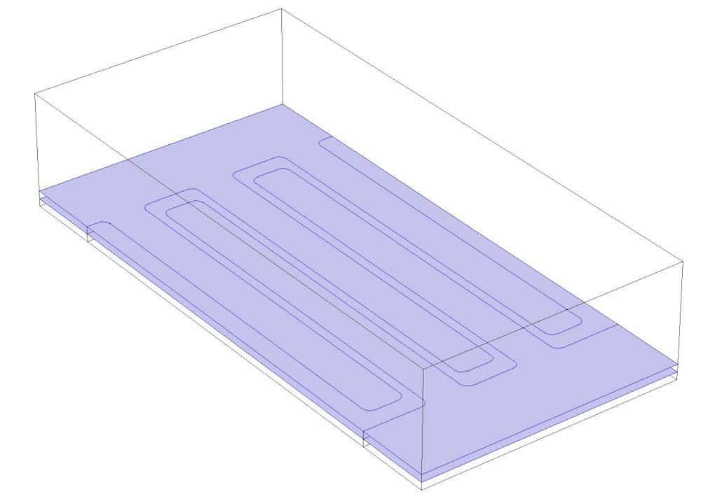 分割 MEMS 结构的两个平面的几何。