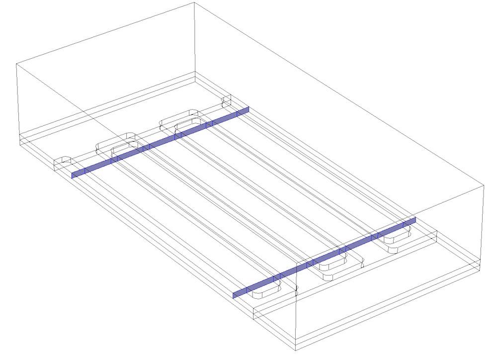 COMSOL Multiphysics 中 MEMS 结构中的棱柱域。