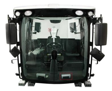收割机的驾驶室。