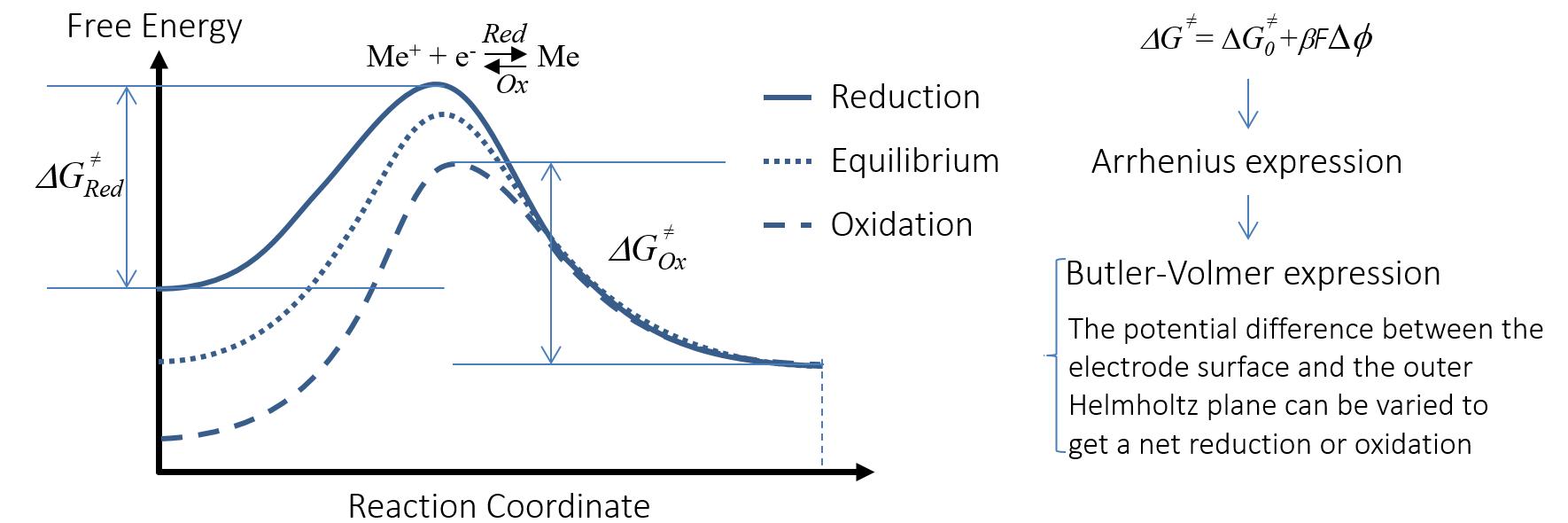 图像阐释了活化能与电荷转移反应速度的变化。
