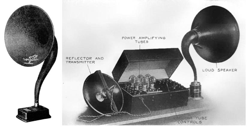 早期 Magnavox 扬声器设计。