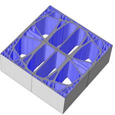 3D 打印材料晶胞的几何。