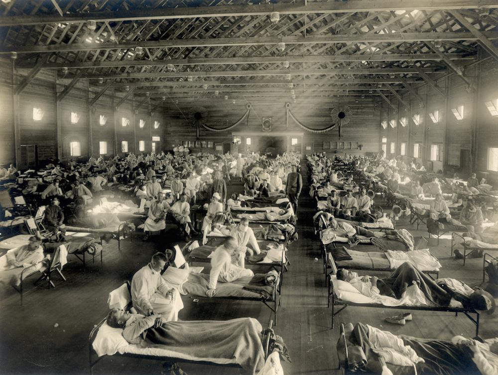 流感大流行时的医院。