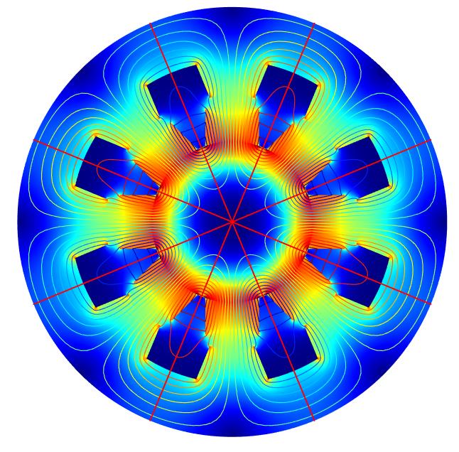 利用二维扇形数据集重建的完整几何。