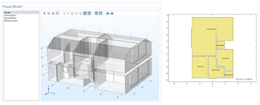 住宅几何和楼面平面图。