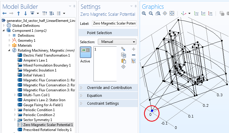 A screenshot illustrating the point constraint settings.
