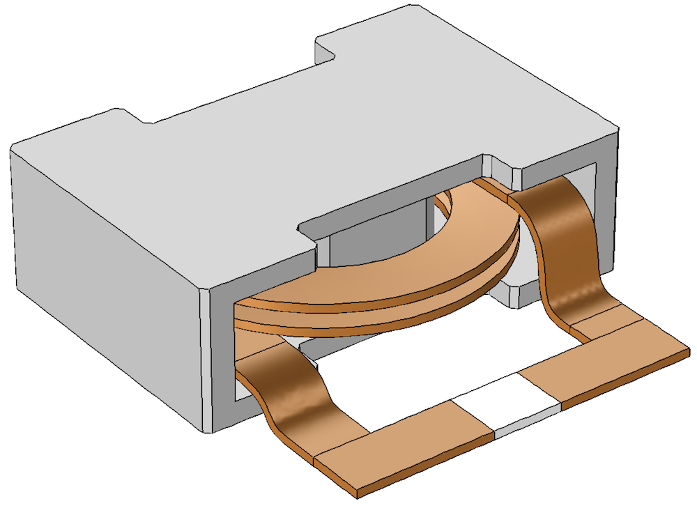 图片展示了电感器的几何结构。