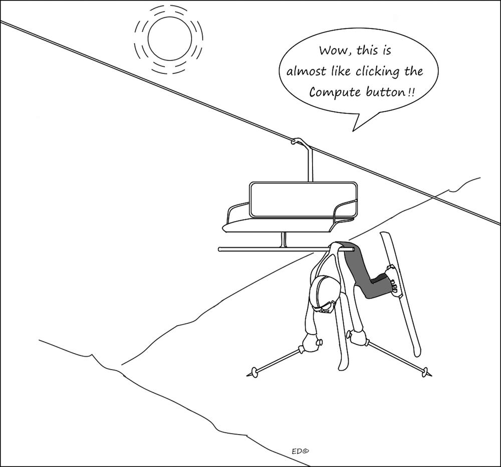 插图展示了如何避免 COMSOL Multiphysics 用户在点击计算按钮时感到焦虑。