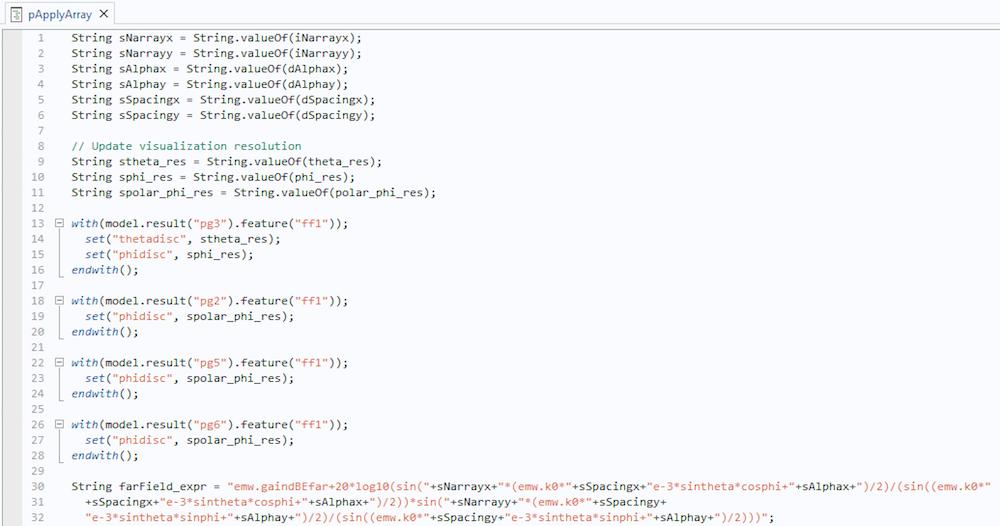 Method Editor 借助仿真App 優化5G 和物聯網的相控陣天線設計
