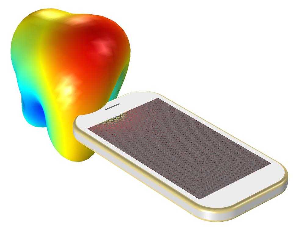 PIFA 天线的远场辐射模式图。