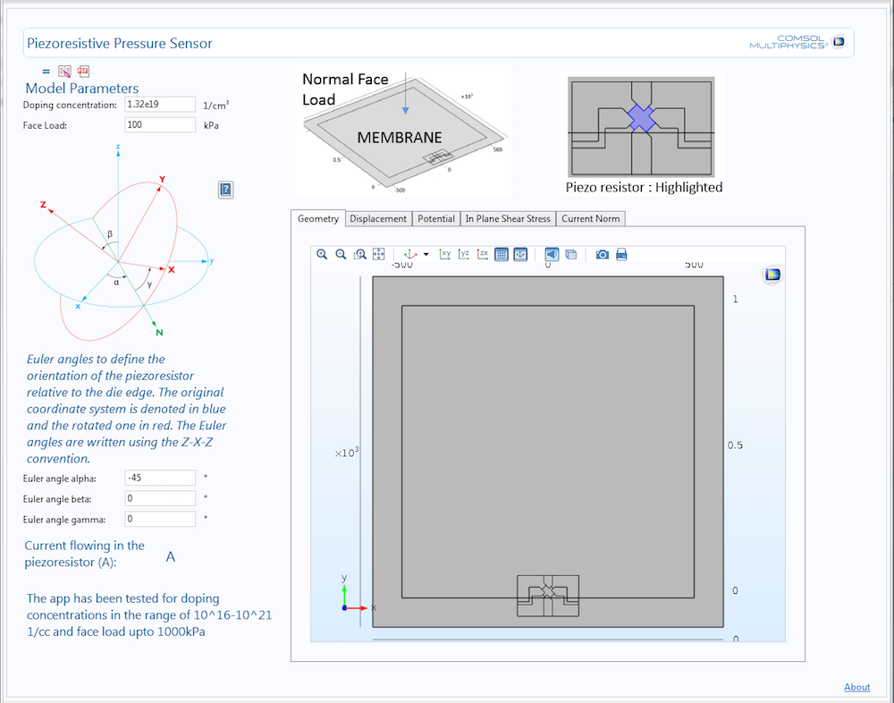压阻式压力传感器 App 的 一个示例。