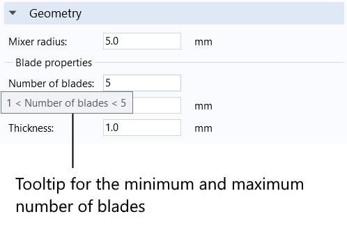 屏幕截图显示了螺旋型静态混合器 App 的工具提示。