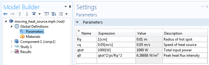 Heat Source Parameters 如何设置特殊边界条件