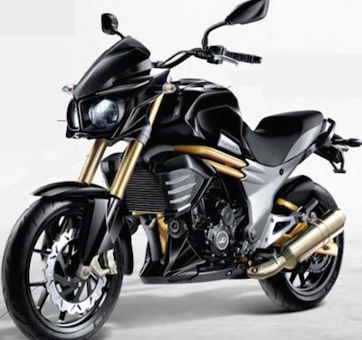 图片显示摩托车及其敞开式发动机。