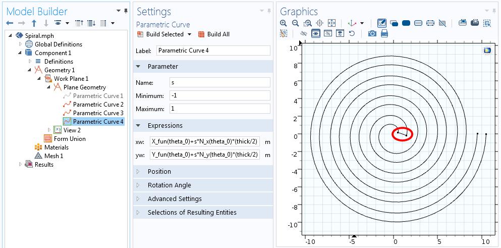 与螺线的一端相连的曲线的方程。