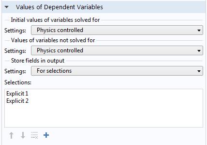 屏幕截图显示了因变量值栏。