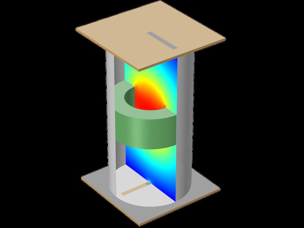 衰减模式柱形腔滤波器教学模型。