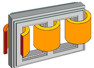 图片展示了 ABB 公司的变压器模型。